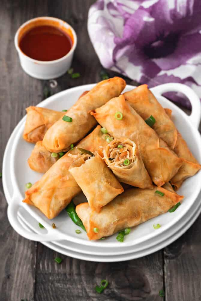 Spring Rolls Recipe Vegetable Spring Rolls Recipe