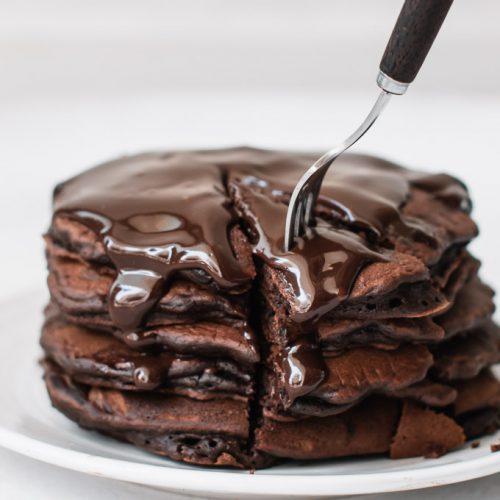 Chocolate Pancake Recipe   Eggless Chocolate Pancake Recipe