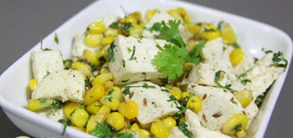 Paneer And Sweet Corn Salad Recipe   Protein Salad Recipe