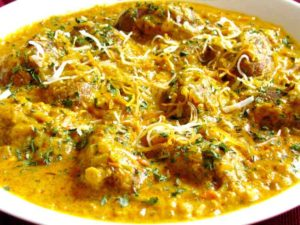 spinach kofta-curry