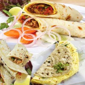 delicious chapati egg roll recipe
