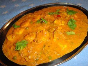 raw banana tikka curry