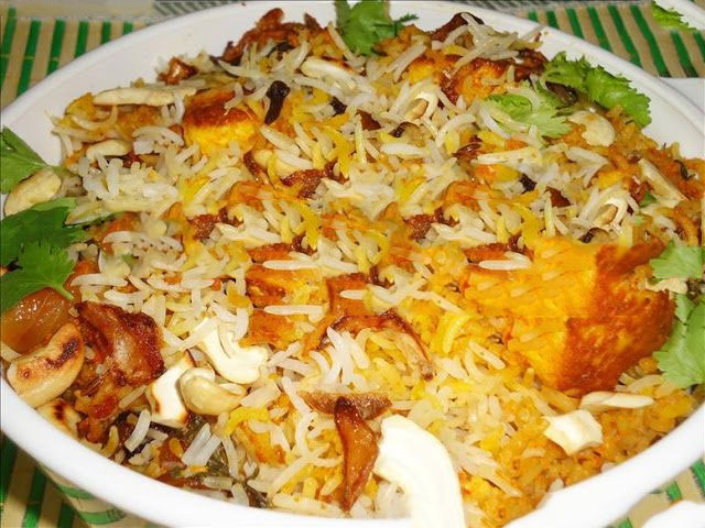 मखनी पनीर बिरयानी बनाने की विधि – recipe for paneer biryani