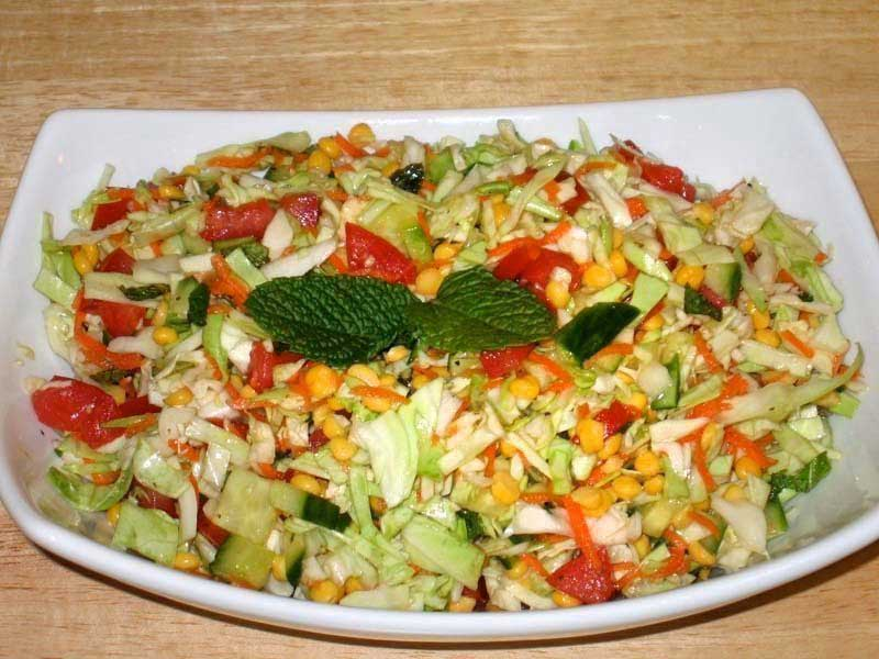 cabbage moong daall salad