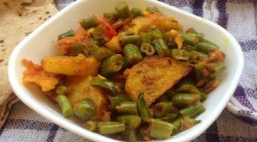 पंजाबी आलू बीन्स रेसिपी – Punjabi potato Beans Recipe