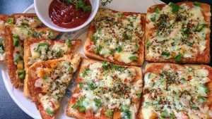 bread pizza recipe hindi