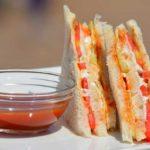 mayonnaise vegetarian sandwich