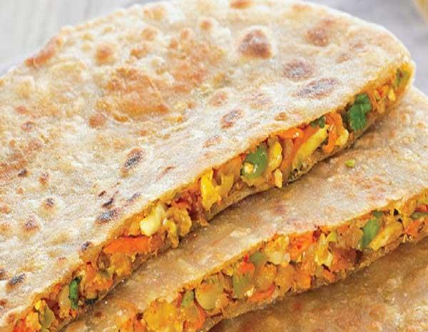 Mix Vegetable Stuffed Paratha recipe