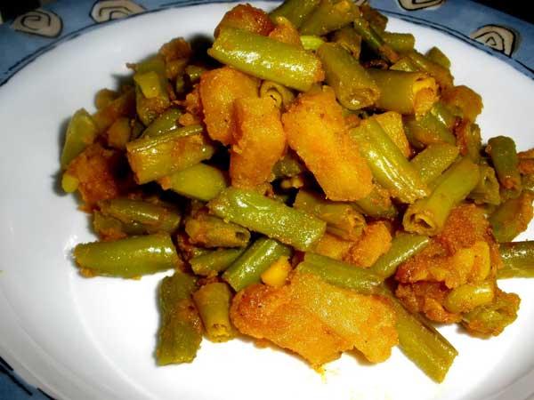 बीन्स आलू की सब्जी – Beans ki sabzi