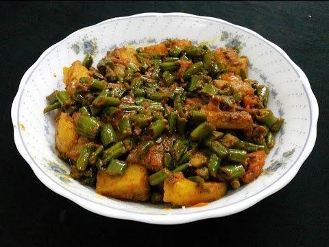 सेंगरी आलू की सब्ज़ी – aloo moongre ki sabzi recipe