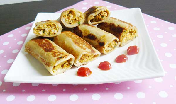 bread paneer roll