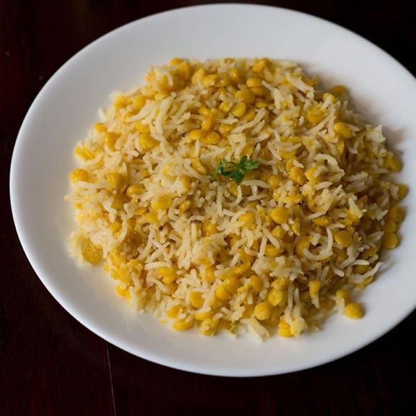 माइक्रोवेव में बनाएं चना दाल पुलाव – chana dal pulao recipe in hindi