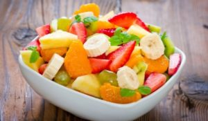 Chopped fruits
