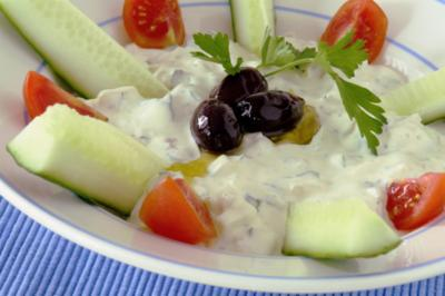 Cucumber and curd salad