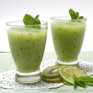 Kiwi and potato juice