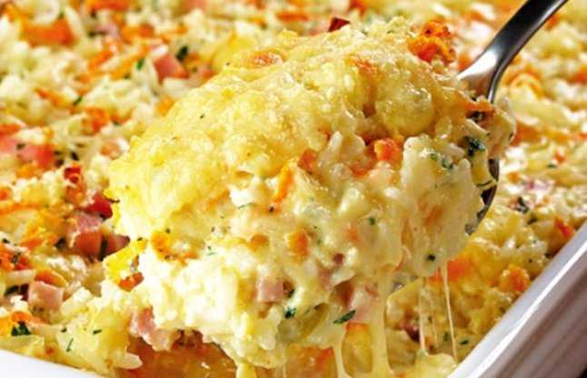 cheese baked rice