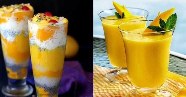 mango falooda and Mango frutti