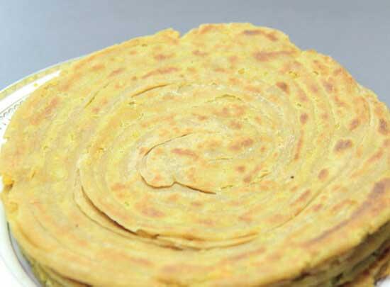 Dal stuffed Lachha Paratha
