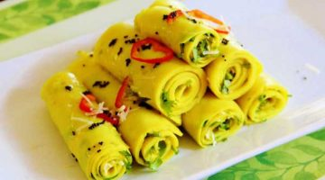 बेसन से बनी स्पेशल गुजराती खांडवी Khandvi Recipe in Hindi