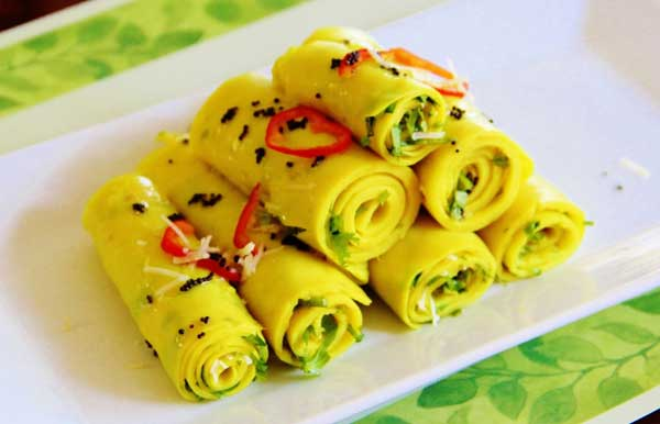 gujrati recipe Khandvi