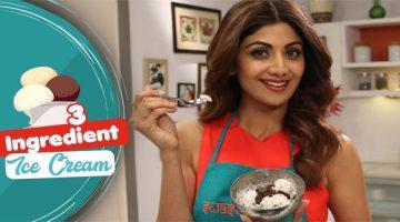 शिल्पा शेट्टी से सीखे सिर्फ तीन चीजों के मिश्रण से क्रीमी आइसक्रीम बनाना