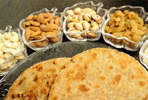 dry fruit paratha recipe