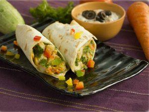 Spicy Vegetable Wraprapé recipe