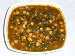 spinach chickpea
