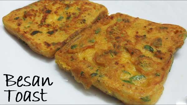 पांच मिनट में नाश्ते के लिए बनाएं क्रिस्पी बेसन टोस्ट Bread Recipes For Snacks