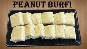 peanut barfi