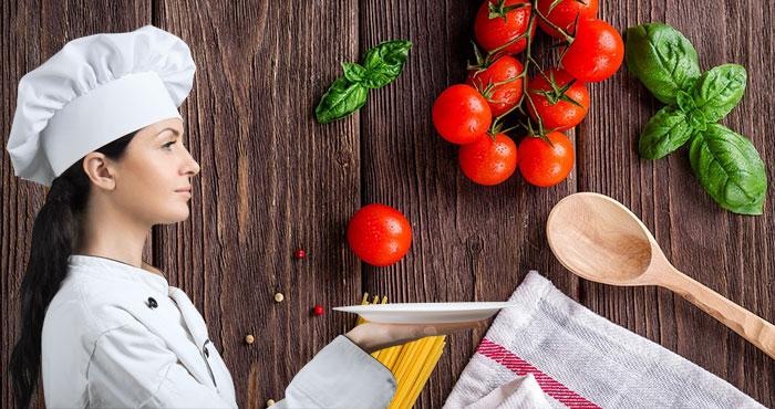 women expert cooking shef