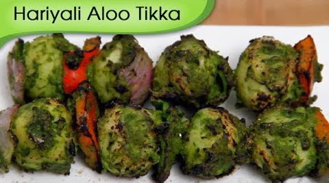 Green potato tikka