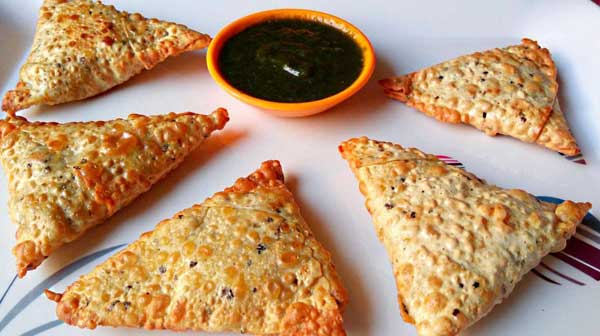 Papad Samosa Recipe in hindi