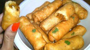 Crispy roll for potato onions