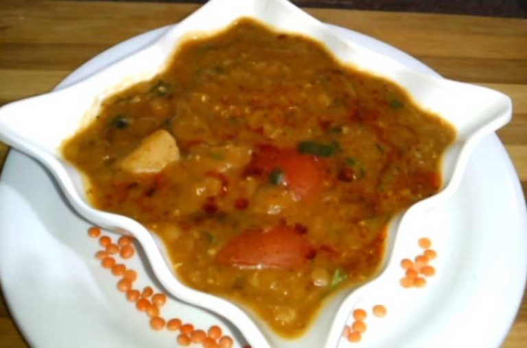 Dhaba style me Banaye masoor dal fry