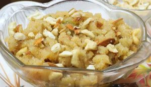 suji ka halwa without ghee