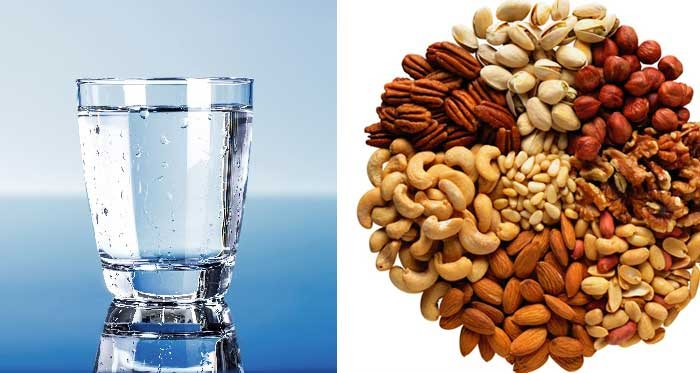 dry fruit and watar