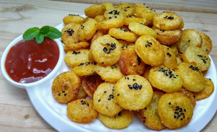 Potato Button recipe in hindi