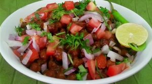 Spicy chana chaat