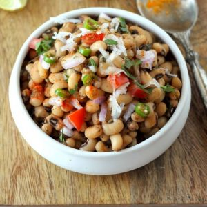 lobia chaat recipe