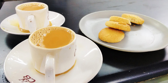 irani chai with osmania biscuits