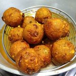 leftover roti peanut Potato balls