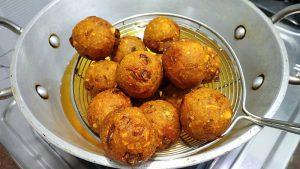 leftover roti peanut Potato balls