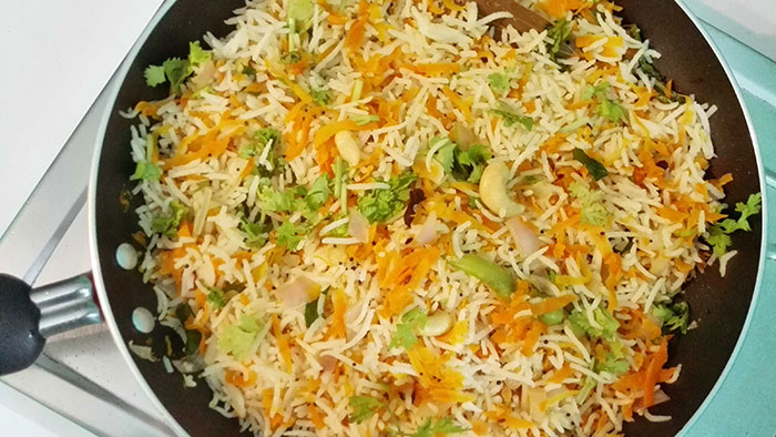 Carrot Rice in Hindi