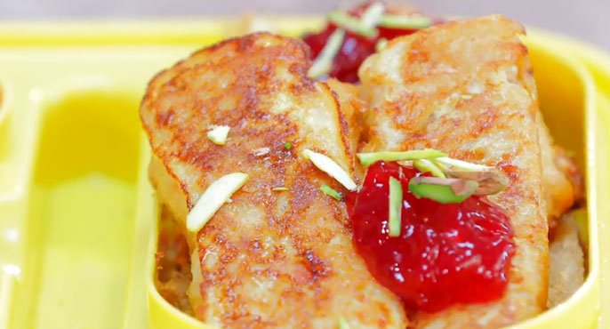 French Toast Roll for Tiffin Recipe