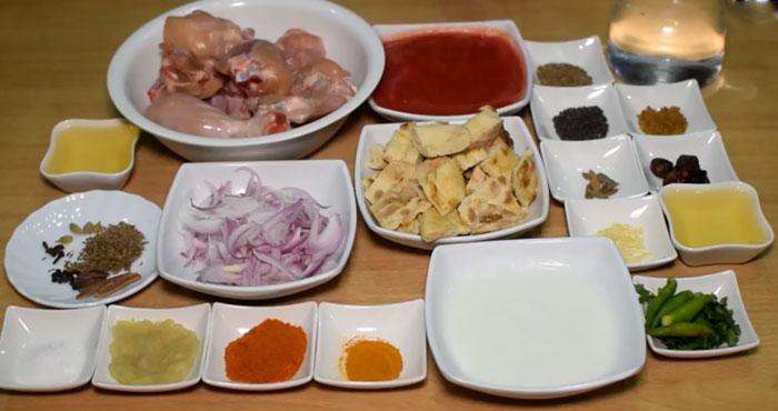 Peshawari Murgh Ingredients