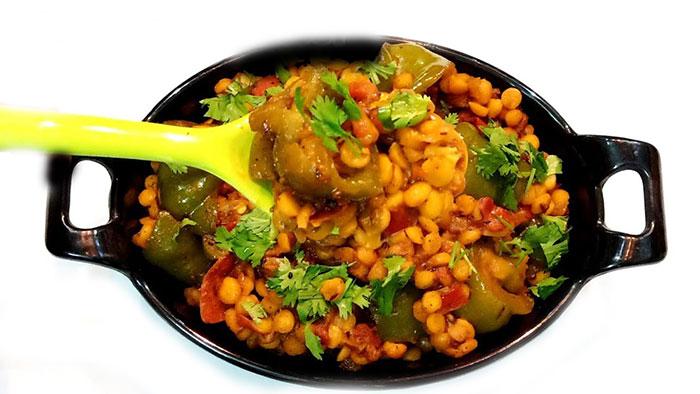 चने दाल शिमला मिर्च की यम्मी सब्जी बनाने का आसान तरीका Chana Dal Shimla Mirch ki Sabji