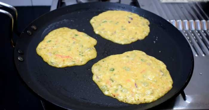 Veg bread pancake recipe