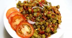 Garlic Bhindi ki Sabzi