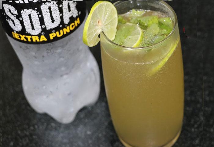 रेस्टोरेंट स्टाइल में बनाएं लेमोनेड/मिंट सोडा वाटर Mint Lemon Soda